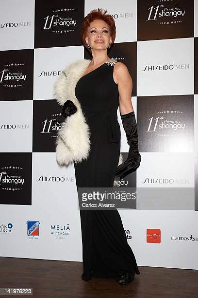 Paloma San Basilio attends Shangay awards 2012 at Calderon Theater on March 27 2012 in Madrid Spain