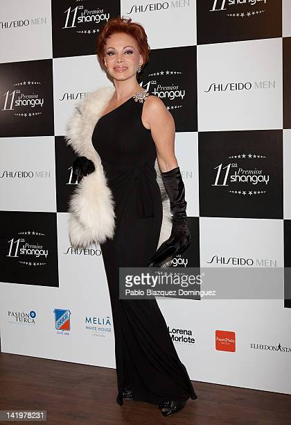 Paloma San Basilio attends the Shangay Awards 2012 at Calderon Theater on March 27 2012 in Madrid Spain