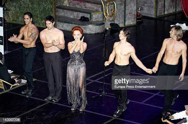 Paloma San Basilio performs at the Shangay Awards 2012 Show on March 27 2012 in Madrid Spain
