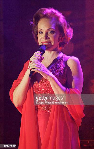 Paloma San Basilio performs on stage at Casino Madrid on February 1 2013 in Madrid Spain