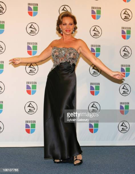 Paloma San Basilio presenter during The 7th Annual Latin GRAMMY Awards Press Room at Madison Square Garden in New York City New York United States
