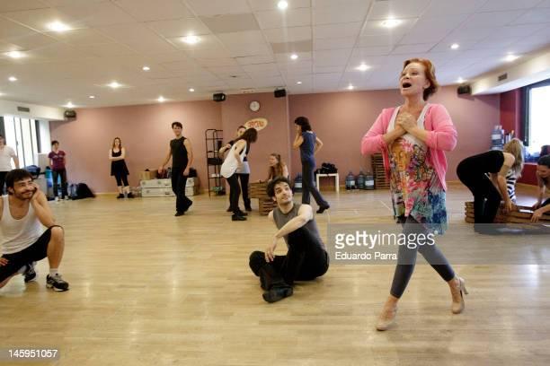 Paloma San Basilio rehearses the play 'My fair lady' at Circulo academy on June 7 2012 in Madrid Spain