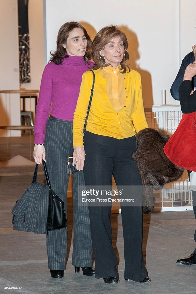 Paloma Segrelels and Paloma Segrelles jr attend the opening of the International Contemporary Art Fair ARCO 2015 at Ifema on February 26, 2015 in Madrid, Spain.