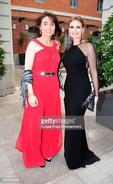 Paloma Segrelles and Ainhoa Arteta attend 'Juegaterapia' party at the Santo Mauro Hotel on June 14 2016 in Madrid Spain