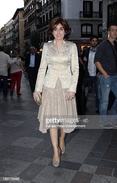 Paloma Segrelles attends Spanish writer Juan Manuel de Prada and Maria Carcaba's wedding at San Gines church on October 22 2011 in Madrid Spain