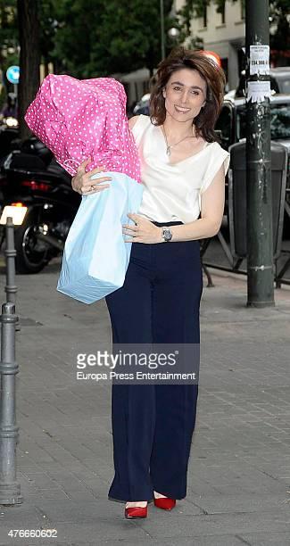 Paloma Segrelles attends the babyshower party of Gemma RuizCuadrado on June 10 2015 in Madrid Spain