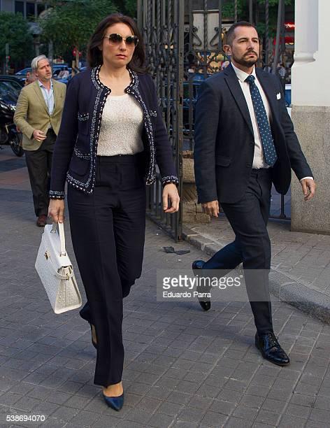 Paloma Segrelles attends the Marquesa de San Eduardo funeral at La Concepcion de nuestra Senora church on June 7 2016 in Madrid Spain