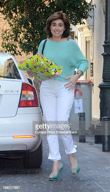 Paloma Segrelles atttends the babyshower party of Silvia Casas on April 18 2013 in Madrid Spain