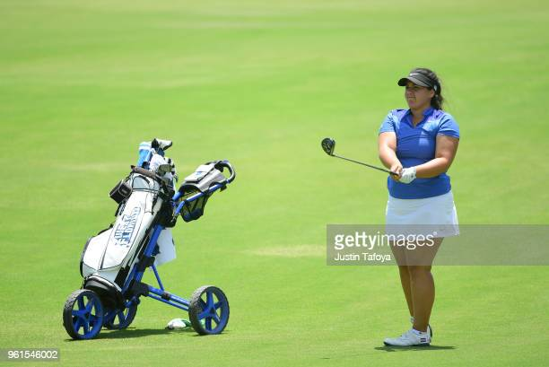 Paloma Vaccaro of the University of West Florida hits the ball during the Division II Women's Golf Championship held at Bay Oaks Country Club on May...