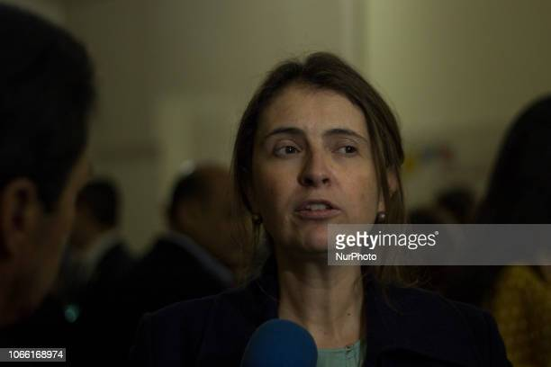 Paloma Valencia Senator of Colombia Democratic Center in debate in the Congress where they ask for the resignation of the prosecutor Martinez by...
