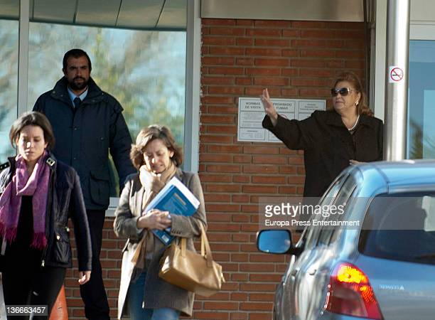 Paloma visits Paloma Cuevas who gave birth her second daughter Bianca Ponce on 9th January at Ruber Internacional Hospital on January 9 2012 in...