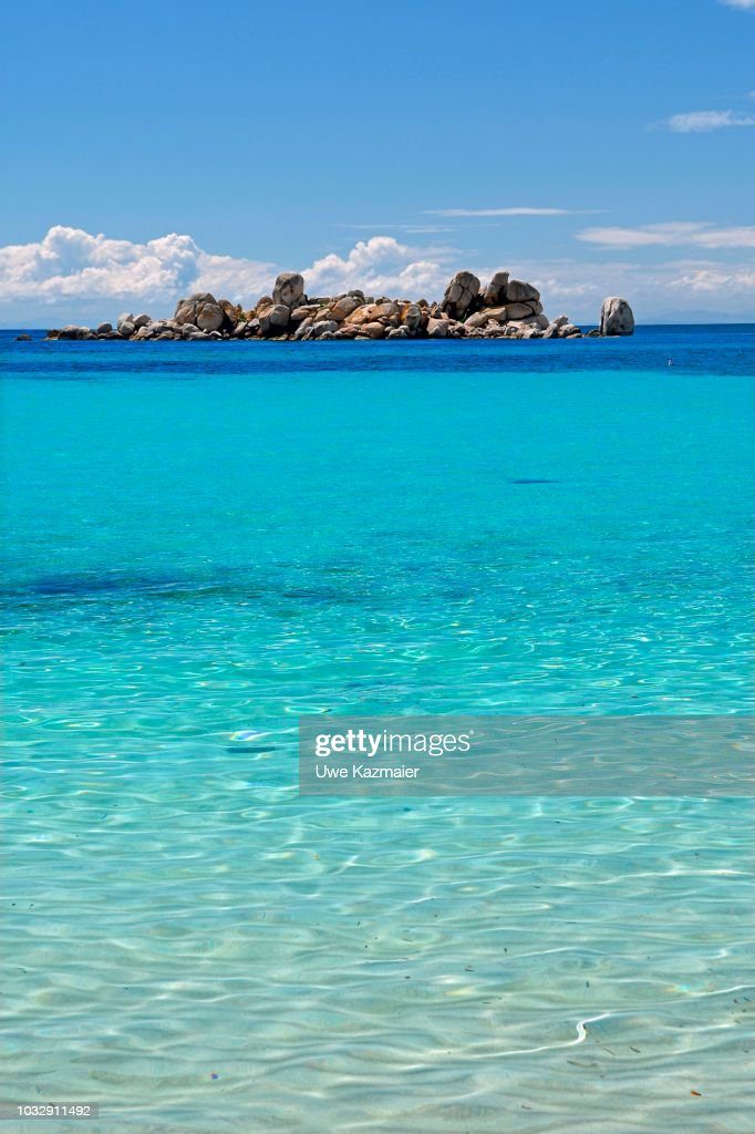 Palombaggia Beach With Turquoise Green Sea Porto Vo