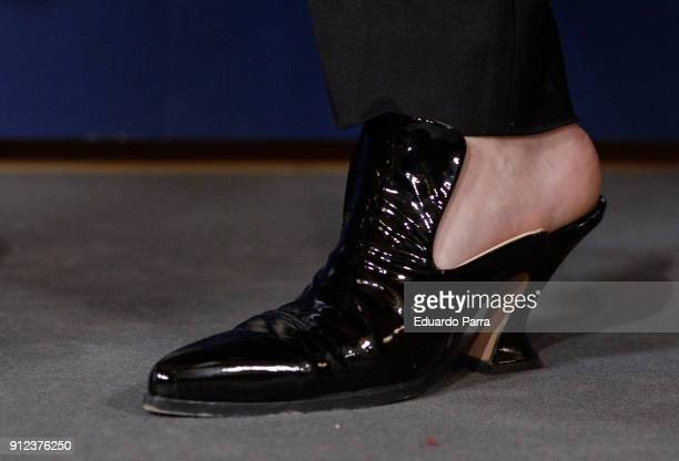 Palomo Spain shoes detail attends 'VII Premios Mujer Hoy' at Casino on January 30 2018 in Madrid Spain
