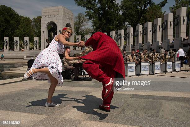 Pam and Steve Springer of Hagerstown MD dance the jitterbug during the 70th anniversary of Victory in Europe Day in Washington DC May 8 2015...
