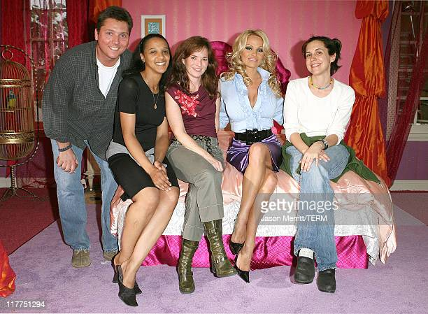 Pam Anderson from Stacked and Barbara Eden from I Dream of Jeannie were on hand to participate in the taping of promos for the 2006 TV Land Awards...