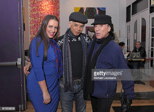 Pam Ann Raven O and Joey Arias attend the opening night of Raven's show Raven O One Night with You at the Bleeker Street Theatre on February 23 2010...