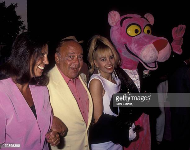 Pam Barber Herbert Lom and Wildy Lawlor attend the screening of The Son of the Pink Panther on August 26 1993 at the Avco Center Cinema in Westwood...