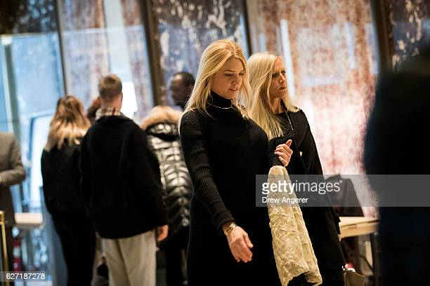Pam Bondi Attorney General of Florida arrives at Trump Tower December 2 2016 in New York City Presidentelect Donald Trump and his transition team are...