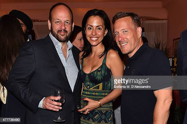 Pam Bristow and Scott Schuman attend Ghurka cocktail party during 88 Pitti Immagine Uomo at Harry's Bar on June 18 2015 in Florence Italy