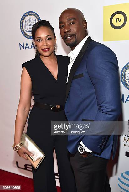 Pam Byse and actor Morris Chestnut attends he 47th NAACP Image Awards presented by TV One at Pasadena Civic Auditorium on February 5 2016 in Pasadena...