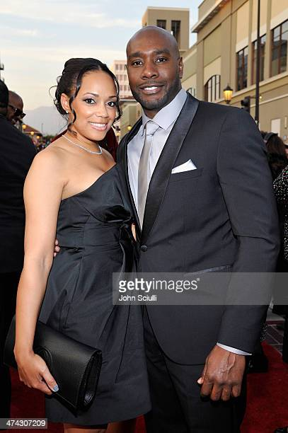 Pam Byse and Morris Chestnut attend the 45th NAACP Image Awards presented by TV One at Pasadena Civic Auditorium on February 22 2014 in Pasadena...