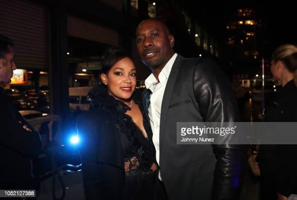 Pam Byse and Morris Chestnut attend the Lumiere De Vie Hommes Launch Event Aboard Superyacht Utopia IV on October 13 2018 in New York City