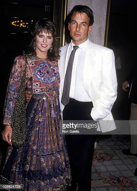 Pam Dawber and Mark Harmon during Premiere of Dr Dolittle in New York City New York United States