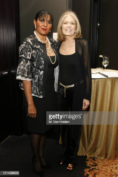 Pam Grier and Gloria Steinem during Ms Foundation for Women's 18th Annual Gloria Awards at Mandarin Hotel in New York NY United States