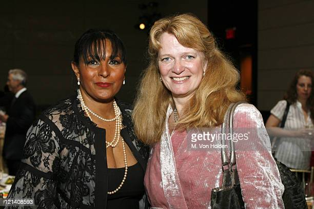 Pam Grier and Katie Grover during Ms Foundation for Women's 18th Annual Gloria Awards at Mandarin Hotel in New York NY United States