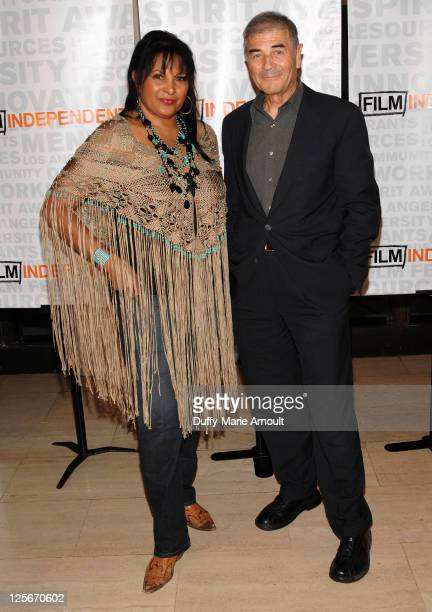 Pam Grier and Robert Forster attend the 2011 Film Independent Screening Series Jackie Brown at Bing Theatre At LACMA on September 19 2011 in Los...