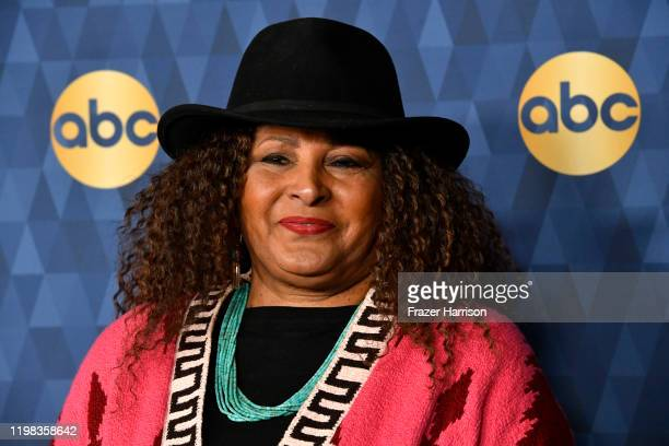 Pam Grier attends ABC Television's Winter Press Tour 2020 at The Langham Huntington, Pasadena on January 08, 2020 in Pasadena, California.