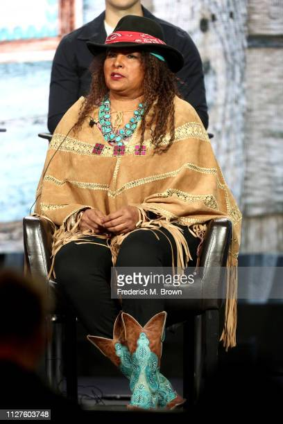 Pam Grier of the television show 'Bless This Mess' speaks during the ABC segment of the 2019 Winter Television Critics Association Press Tour at The...