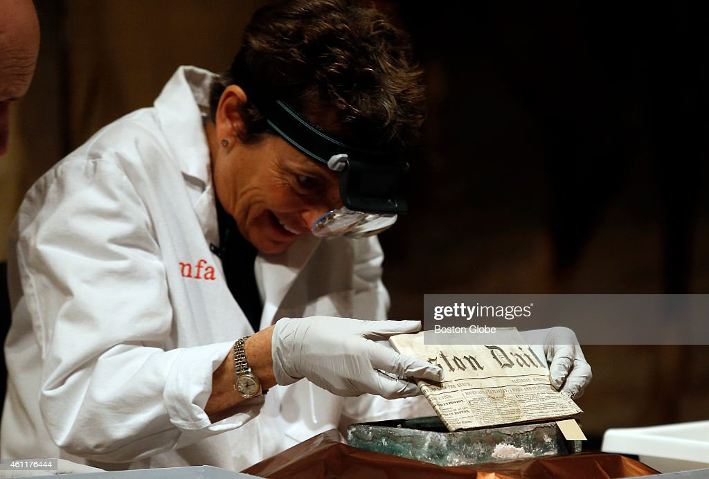 Coins, Newspapers Found As Time Capsule Is Opened : News Photo