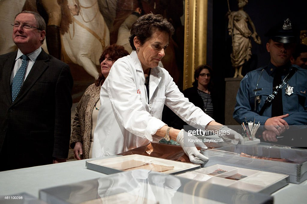 Time Capsule From 1795 Found In Massachusetts Statehouse Unveiled : News Photo