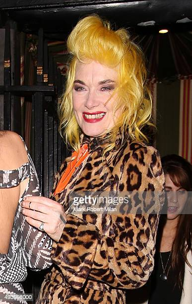 Pam Hogg attending AnOther Magazine x Dior Party at Annabels club on October 21 2015 in London England