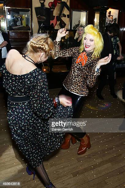 Pam Hogg attends 'A Bigger Splash' premiere after party presented by AnOther x Dior at Annabel's on October 21 2015 in London England