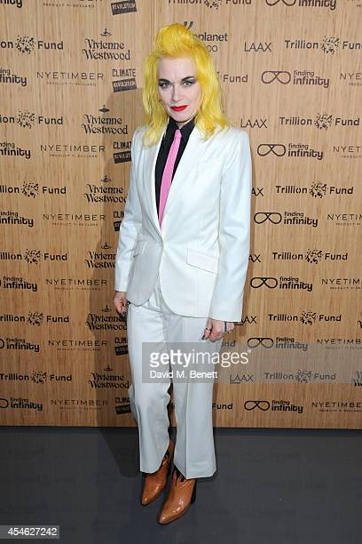 Pam Hogg attends OFFtheGRID London event with Vivienne Westwood Trillion Fund and Findinginfinity on September 4 2014 in London England