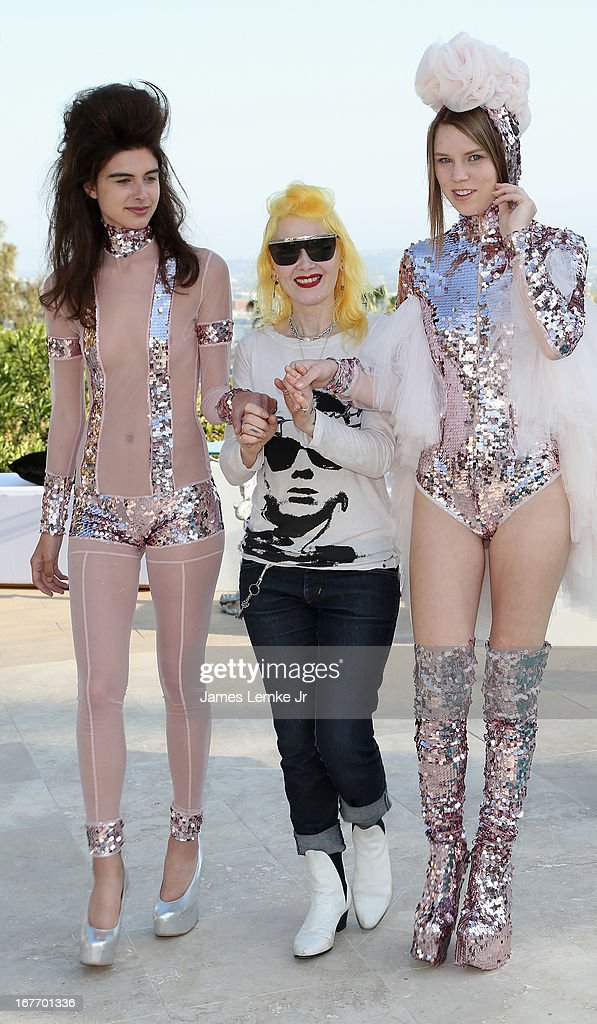 Pam Hogg attends the Filmmaker and Genlux Magazine Fashion Editor Amanda Eliasch Hosts BritWeek 2013 Cocktail Party on April 27, 2013 in West Hollywood, California.