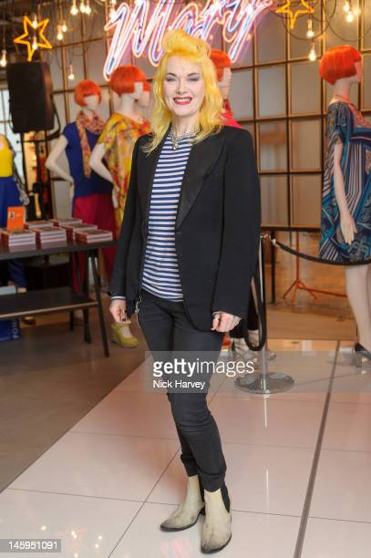 Pam Hogg attends the launch of Advanced Style hosted by Mary Portas and Ari Seth Cohen at Mary's Shop, House of Fraser, Oxford Street on June 7, 2012...
