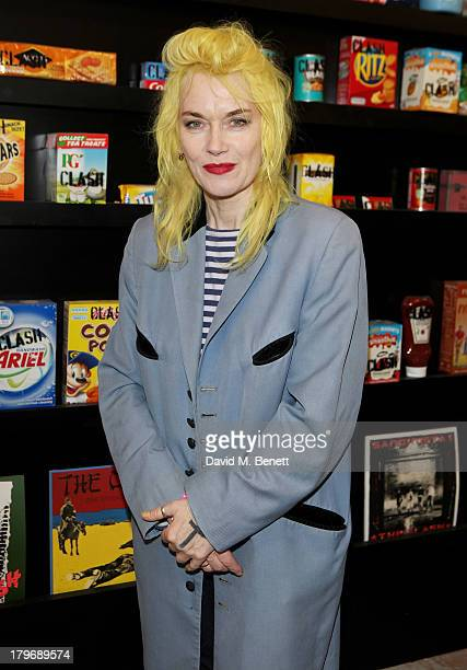 Pam Hogg attends the launch of 'Black Market Clash' an exhibition of personal memorabilia and items curated by original members of The Clash at 75...