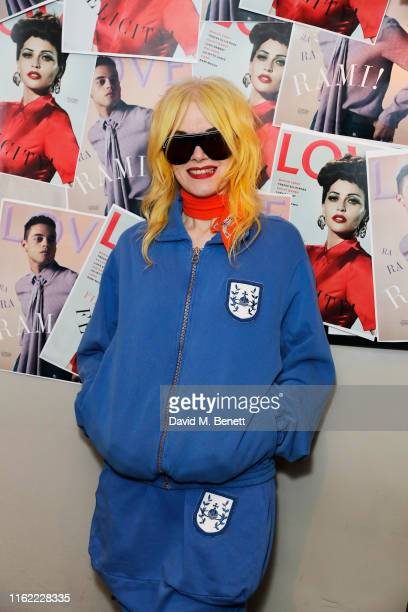 Pam Hogg attends the #MOVINGLOVE screening hosted by Derek Blasberg Katie Grand at Screen on the Green on July 15 2019 in London England