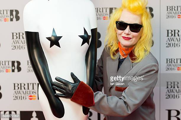Pam Hogg attends the nominations launch for The Brit Awards 2016 at ITV Studios on January 14 2016 in London England