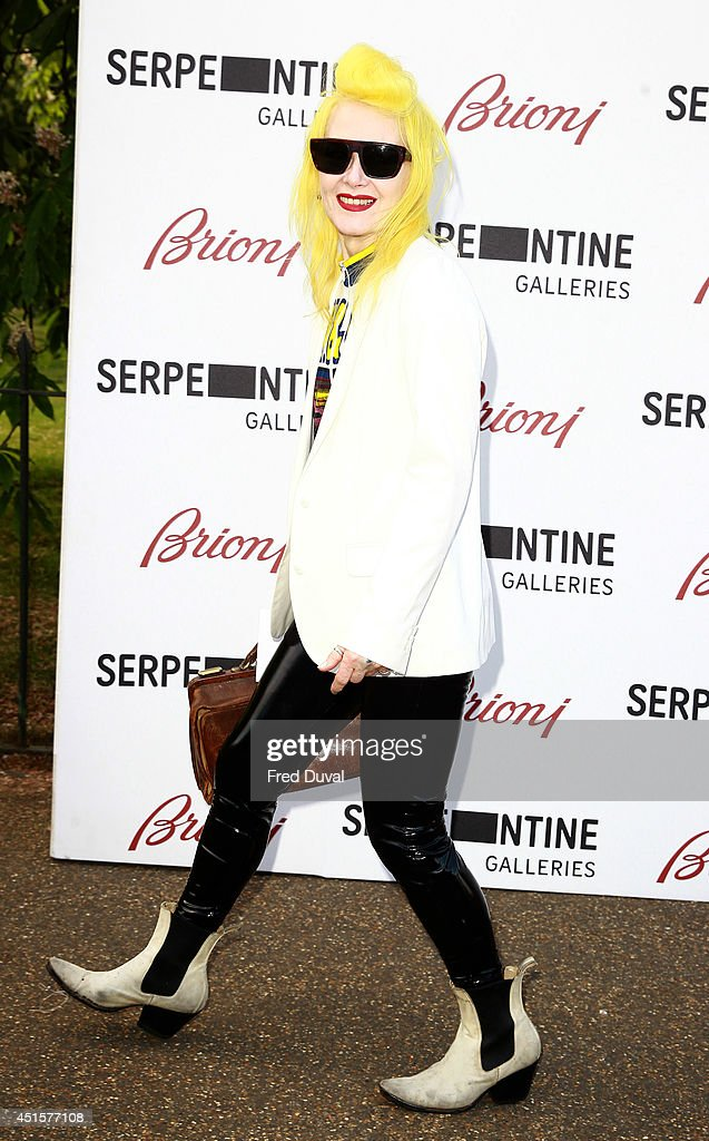 Pam Hogg attends the The Serpentine Gallery summer party at The Serpentine Gallery on July 1, 2014 in London, England.