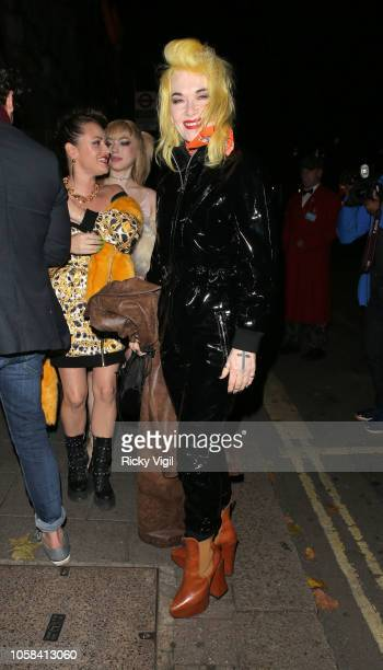Pam Hogg seen attending HM x Moschino collection launch party at Annabel's on November 6 2018 in London England