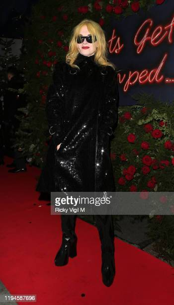Pam Hogg seen attending Tramp's Christmas Party in celebration of their 50th Anniversary on December 17 2019 in London England