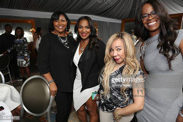 Pam Luckett Tina Douglas Tameka Tiny CottleHarris and Loraine Smith attend MILF Celebration Of Entertainment Mothers on February 6 2015 in Beverly...