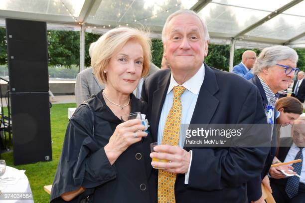 Pam McKee and Bill Griffith attend the Franklin D Roosevelt Four Freedoms Park's gala honoring Founder Ambassador William J Vanden Heuvel at Franklin...
