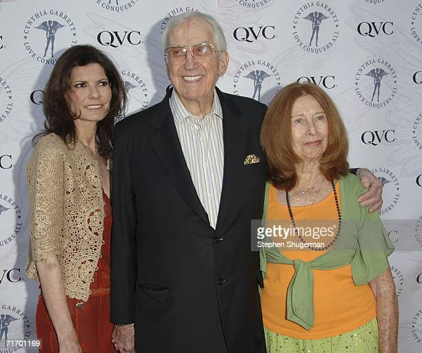 Pam McMahon announcer Ed McMahon and Mr McMahon's Aunt May attend the launch of Cynthia Garrett and QVC's Love Conquers All jewelry line at the...