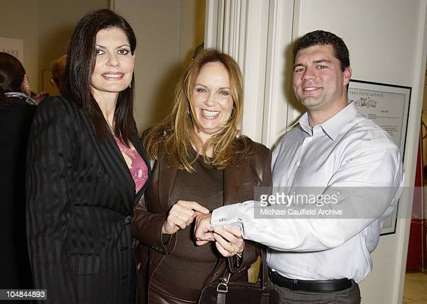 Pam McMahon Catherine Bach guest during Peace and Love Jewelry by Nancy Davis Launch Party at Saks Fifth Avenue in Beverly Hills California United...