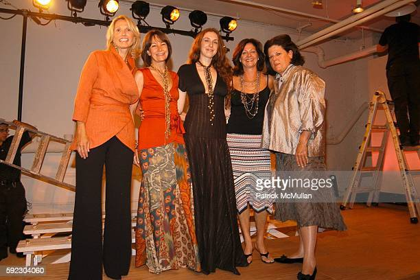 Pam Michaelcheck Brooke Neidich Lyn Devon Jennifer Aubrey and Anne Keating attend Lyn Devon Debut Collection and Cocktails at 463 Broome St on...
